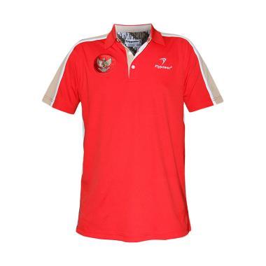 Flypower Polo Garuda Pakaian Badminton - Red White
