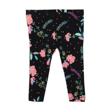 Millenia BL 02 Motif Flower Celana Legging Anak Perempuan - Black
