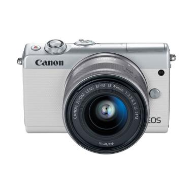 Canon EOS M100 Kit 15-45mm Kamera Mirrorless - White White