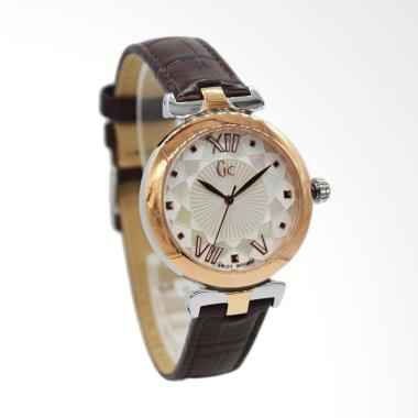 Guess Collection GC Y19005L1 Kulit  ... a - Rosegold Brown [34mm]