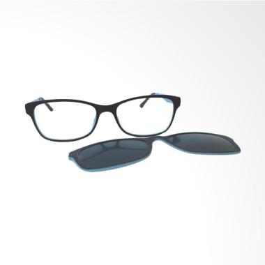 OEM Clip on Frame Kacamata Minus - Blue Black [-1.00]