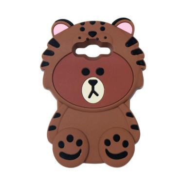 VR Silikon 3D Boneka Animasi Bear Beruang Singa Softcase Casing for Samsung Galaxy J3 Pro (2016) J3110 - Coklat