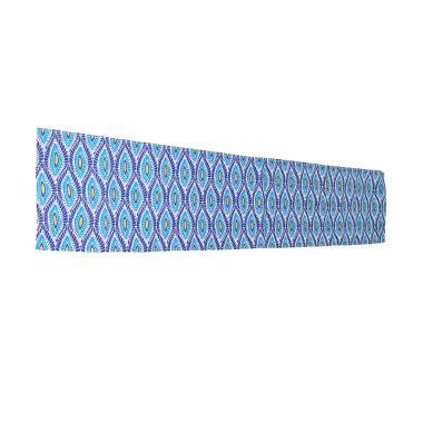 Hermosa Home Decor Daun Table Runner - Biru [150 cm]