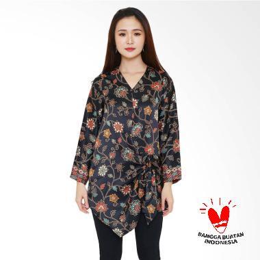 flike-store_flike-store-long-sleeve-tie-blouse-batik-wanita---black-flower-line_full05 Ulasan Harga Batik Wanita Hitam Teranyar bulan ini