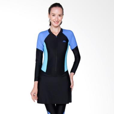Opelon Baju Renang Muslim - Black Pagoda Blue [09.7004.030.16.KP]