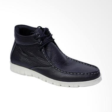 86 Kulit Sepatu Boot Pria - Hitam