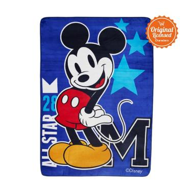 Mickey Mouse All Star Mickey Valvet Carpet - Blue [Large]