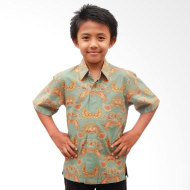 Aamir Kinsler BA23 Kemeja Batik Anak Laki-laki - Biru Telor Asin
