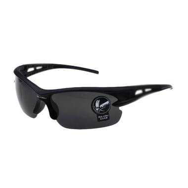 OULAIOU Lensa Mercury Kacamata Sepeda - Black [3015]
