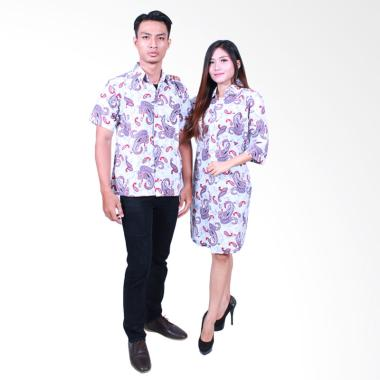 Batik Putri Ayu Solo SRD 501 Dress Katun Batik Couple - Merah