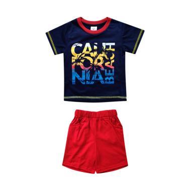MacBear Rainbow California Setelan Baju Anak Laki-laki - Navy Blue