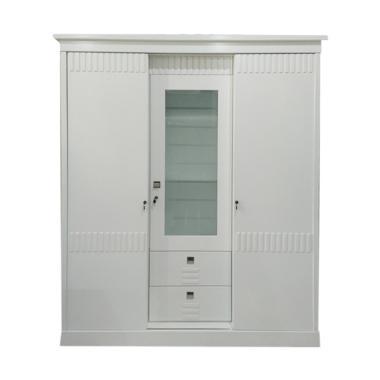 Starmax Qiara 3 Pintu Lemari Pakaian -  White