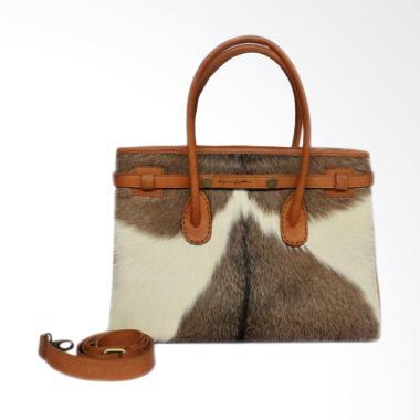 Kenes Leather Kulit Hermes Bulu Tas Wanita - White
