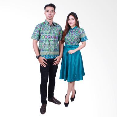 Batik Putri Ayu Solo SRD502 Batik Sarimbit Couple - Hijau Tua