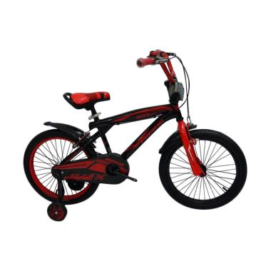 PACIFIC BIKE 2058 Sepeda BMX - Black Red [18 Inch]