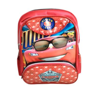 Cars 0930010083 Backpack Tas Sekolah Anak - Red