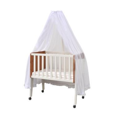 Livien Furniture Maple Story Baby Box Tempat Tidur Bayi - Ivory