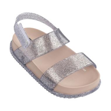 Mini Melissa Cosmic Sandal - Silver Glitter