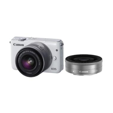 Canon EOS M10 Double Kit EF-M 15-45 ... Kamera Mirrorless - White