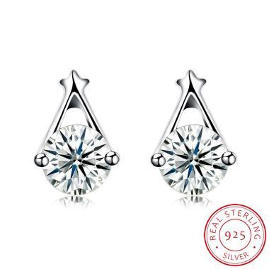 SOXY SH-E0101 925 New Fashion Simpl ... ng Stud Earrings - Silver