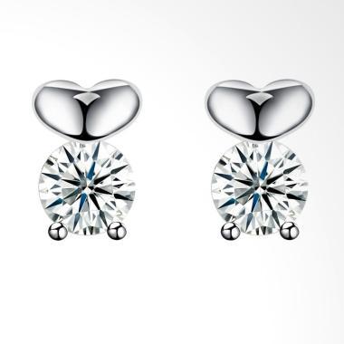 SOXY SH-E0082 New Stylish Simple cl ... ng Stud Earrings - Silver