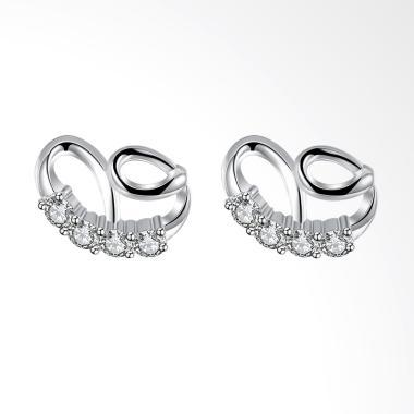 SOXY LKNSPCE778 New Exquisite Fashion Earrings Letter Diamond Earrings