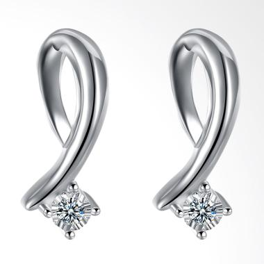 SOXY LKNSPCE769 New Exquisite Fashion Letter Diamond Earrings