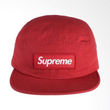Supreme New York Metal Ring Camp Cap Topi - Red