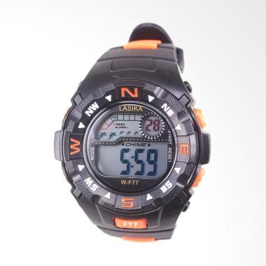Lasika Sport Digital Jam Tangan Unisex - Black Orange [W-F 77]