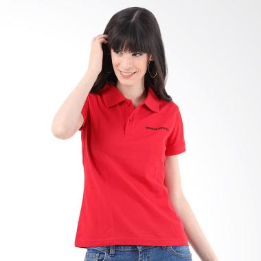 Mobile Power Polo T-Shirt Wanita - Red