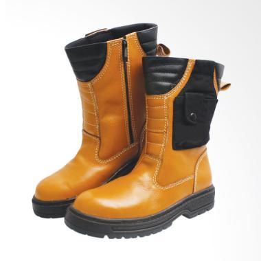 Syaqinah Sepatu Boots Pria Kulit Asli 277 - Tan