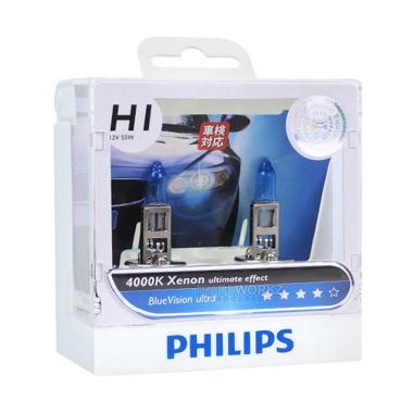 PHILIPS BLUE VISION ULTRA H1 (4000K) - LAMPU HALOGEN