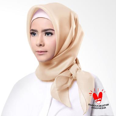 Cotton Bee Organza Square Hijab - Krem