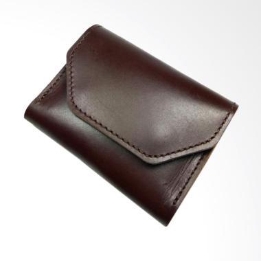 Whiteblue Kulit Sapi Dompet Kartu - Coklat