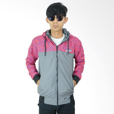 Refill Stuff RS Bolak Balik Jaket Pria - Grey Red