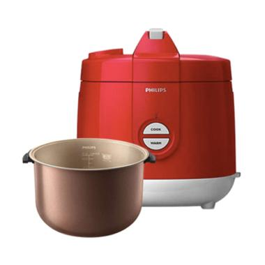 PHILIPS HD3129/32 Premium Rice Cooker Magic com- Red [2 L]