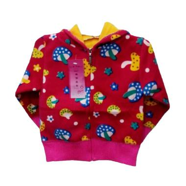 Import Kids Motif Mushrooms Jaket Bayi Perempuan - Fuschia