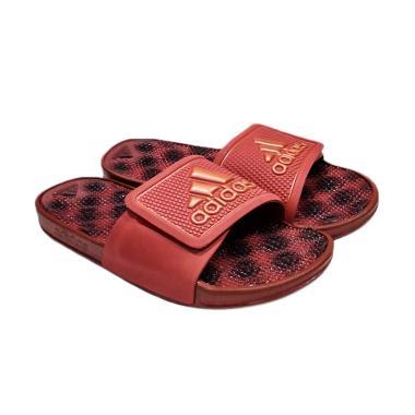 adidas Adissage 2.0 Stripe Slides Sandals Pria - Maroon [BB4566]