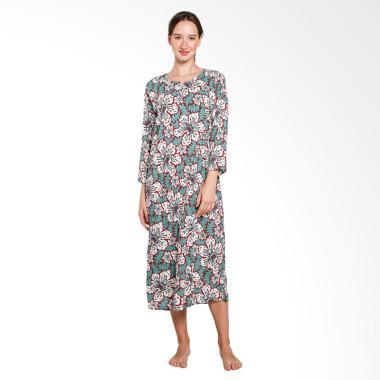 Batik Alhadi LPT001-02A Longdress B ... g Piyama Baju Tidur Hamil