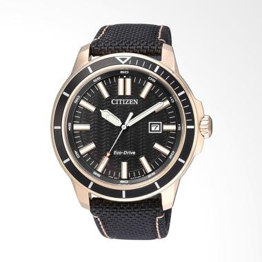 Citizen ECO-Drive Nylon Jam Tangan Pria - Black [AT2405-10E]