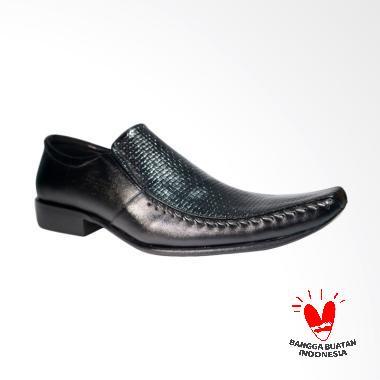 LISMEN Oasis Classic Sepatu Kulit Pria - Hitam [LM-7703]