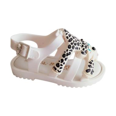 Mini Melissa Flox Jeremy Scott Sepatu Anak Perempuan - White