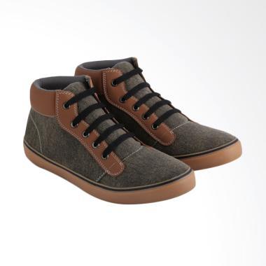 JK Collection Sneakers Sepatu Pria - Coklat [JKC-JAC 1007]