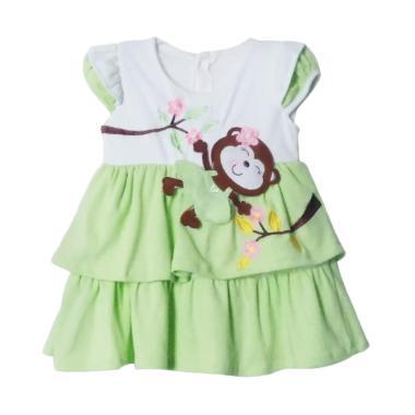 TWO MIX 2041 Monyet Cantik Dress Bayi - Hijau