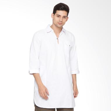 Zayidan Alhasan Baju Gamis Muslim Pria - Putih