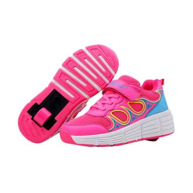 WHEELY'S 007 Roda Tunggal Sepatu Anak Perempuan - Pink