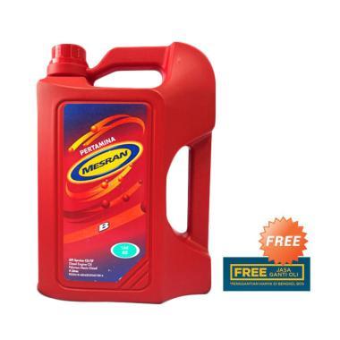 Pertamina Mesran B40 Oli Pelumas Mobil 4 Liter