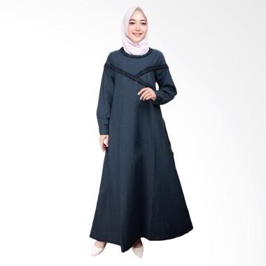 Adore Ladies 491688 Lengan Panjang Gamis - Dark Blue
