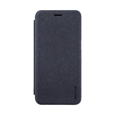 Nillkin Sparkle Leather Flip Cover Casing for Oppo R11 - Black