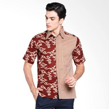 Batik Adikusuma Hem Batik Mega Mend ... Pria - Coklat [542257117]